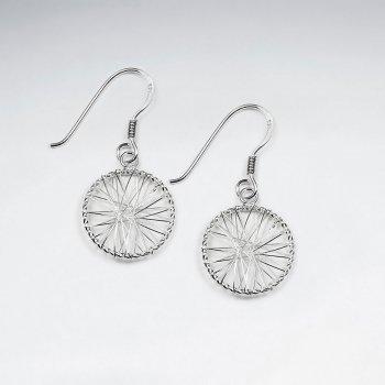 Enchanted Wire Work Crisscross Design Earrings in Silver