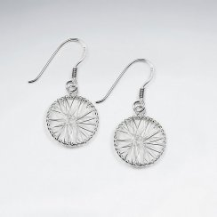 Enchanted Wire Work Crisscross Design Earrings in Silver