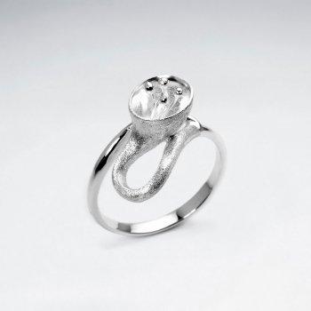 Enchanting Sterling Silver Flower Blossom Ring