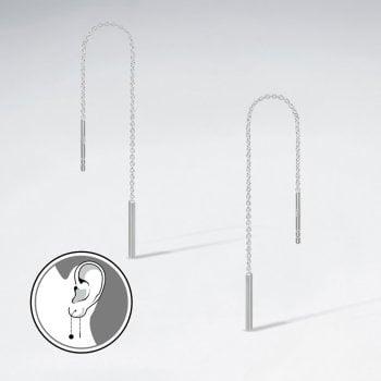 Encore Silver Threader Earrings