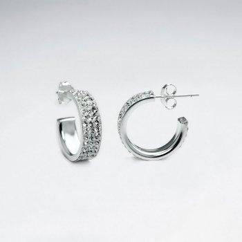 Eternally Elegant Sterling Silver Crystal Earrings