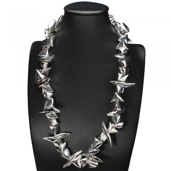 Exotic Romance of Style Statement Necklace in Silver