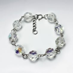 Faceted Crystal Bead Bracelet