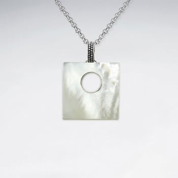 Fashion Designs Mother Of Pearl Square Pendant