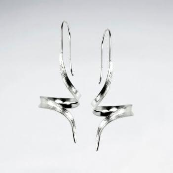 Feminine Poetry Matte Silver Earrings