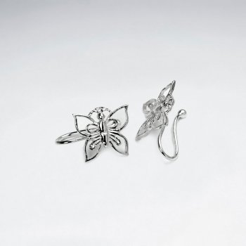 Filigree Butterfly Sterling Silver Ear cuffs