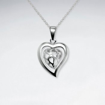 Filigree Heart Silver Pendant