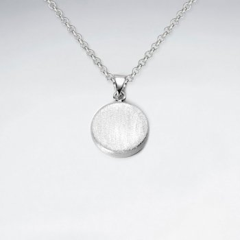 Flat Top Sterling Silver Button Pendant