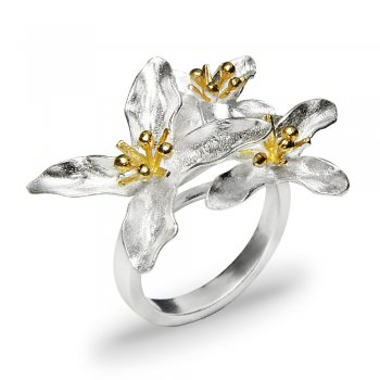 Floral Bouquet Sterling Silver Statement Ring