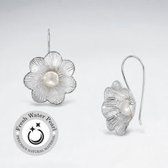 Flower Earring With Pearl