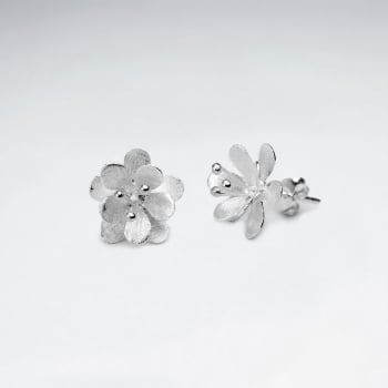 Flower in the garden Beauties Sterling Silver Stud Earring