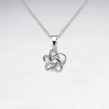 Flower Knot Openwork Silver Pendant