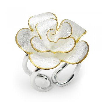 Garden Delight Flower Blossom Ring in Sterling Silver
