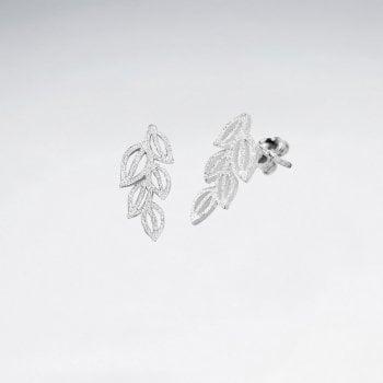 Garden Fresh Greens Sterling Silver Stud Earrings