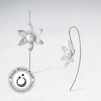Garden Romance Sterling Silver Threader Hook Earrings