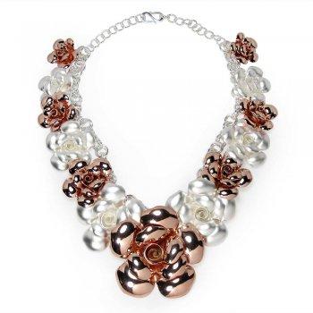 Gardenia Flower Wreath Necklace