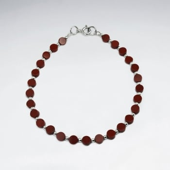 Garnet Bead Clasp Bracelet