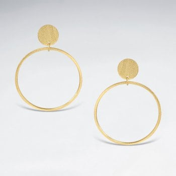 Geometric Sterling Silver Hoop Stud Earrings