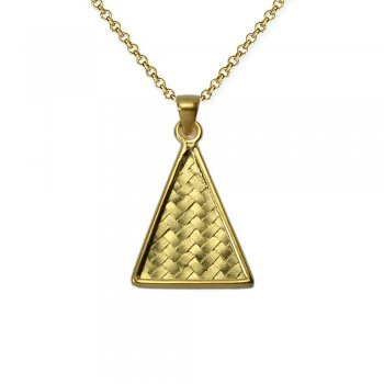Geometric Triangle Basket Weave Motif Pendant