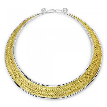 Glamour Forevermore Basket Weave Statement Necklace