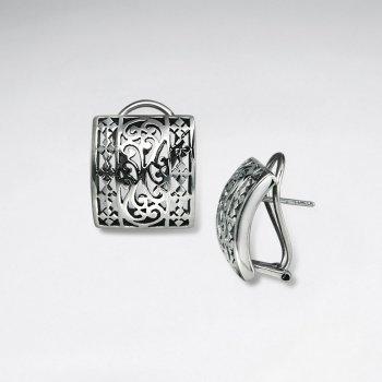 Goddess Inspired Oxidized Filigree Petite Earrings