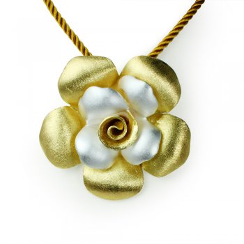 Gold Standard Signature Flower Pendant