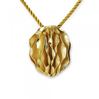 Gold Tone Sterling Silver Carambola Pendant