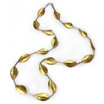 Golden Leaf Charmed Necklace