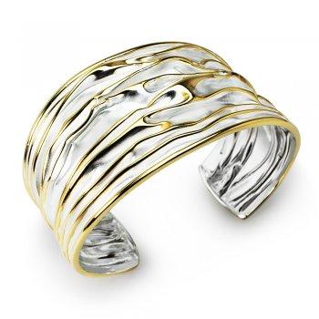 Golden Teak Collection Sterling Silver Bangle