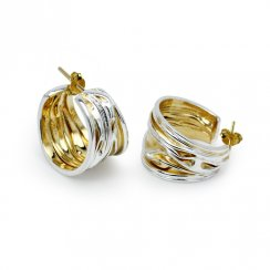 Golden Teak Collection  Sterling Silver Earrings