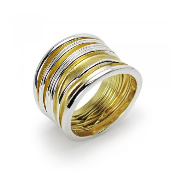 Golden Teak Collection  Sterling Silver Ring