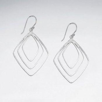 Gradual Openwork Sterling Silver Dangle Hook Earrings