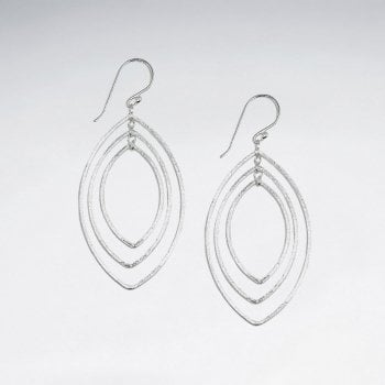 Gradual Openwork Sterling Silver Teardrop Earrings
