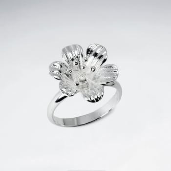 Handmade Silver Floral Delight Fashion Ring