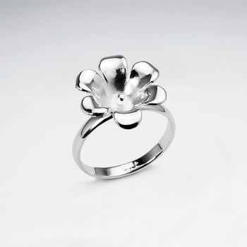 Handmade Silver Floral Sophistication Ring