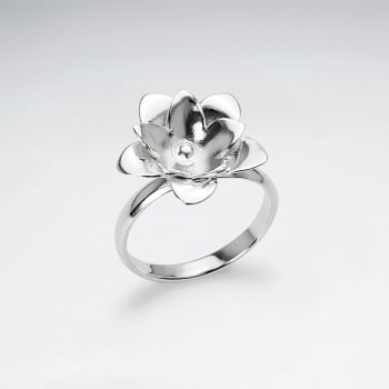 Handmade Silver Perfect Petals Flower Ring