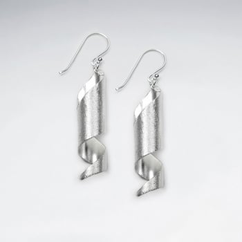 Handmade Silver Tubal Twist Wrap Earrings
