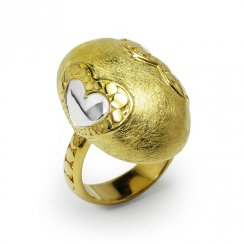 Heart's Delight Duel-Toned Statement Ring