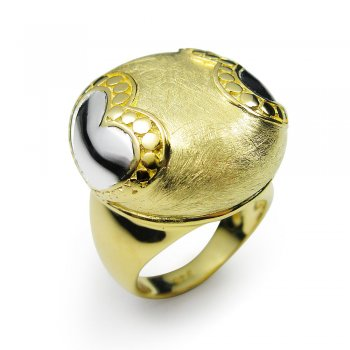 Heart's Desire Two-Toned Statement Ring