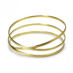 Heavenly Poetry Divinity Crisscross Bangle