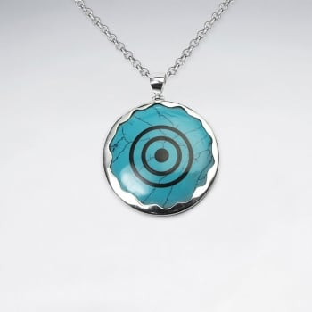 Howlite Bull's Eye Native Pendant