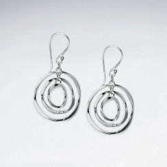 Hypnotic Sterling Silver Circles Earrings