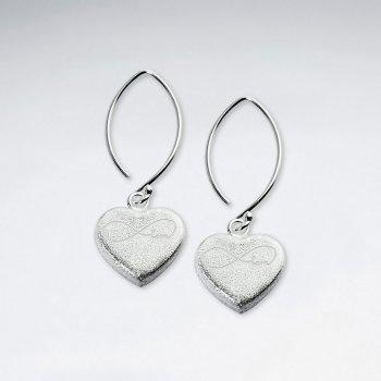 Infinity Hearts Dangle Earrings
