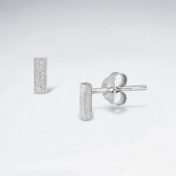 "Initial Letter ""I"" Silver Stud Earring"