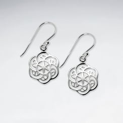 Instant Drama Openwork Sterling Silver Dangle Earrings