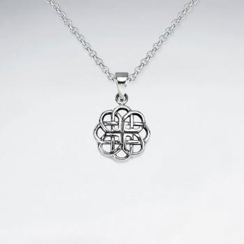 Interwoven Celtic Style Openwork Pendant in Sterling Silver