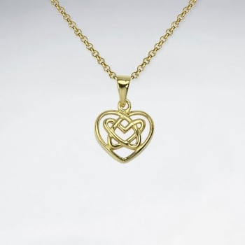 Knotted Heart Sterling Silver Pendant