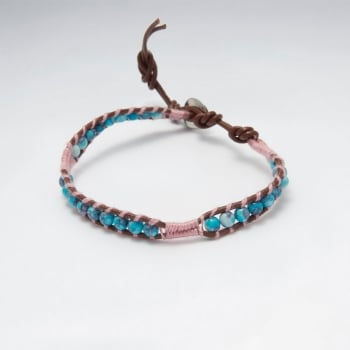 Leather Beaded Sky Bracelet