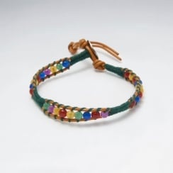 Leather Tribal Beaded Bracelet