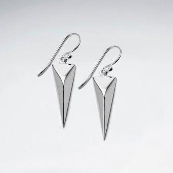 Long Arrow Sculptural Southwest Dangle Hook Earrings